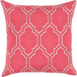 Skyline Trellis Pillow with Poly Fill in Carnation   BA052-1818P