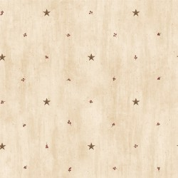 Marge Wheat Star Sprigs Toss Wallpaper