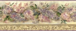 Ethel Sand Heirloom Lilacs Trail Wallpaper Border