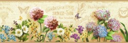 Poste Cream Springtime Trail Wallpaper Border