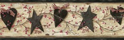 Chrissy Grey Faith Love Trail Wallpaper Border