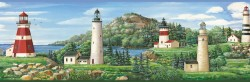 Gilead Green Lake Lighthouse Portrait Wallpaper Border