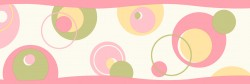 Wobbles Pink Geometric Toss Wallpaper Border