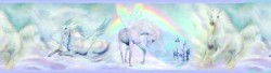 Farewell Blue Unicorn Dreams Portrait Wallpaper Border