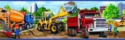 Elbow Grease Red Heavy Machinery Portrait Wallpaper Border