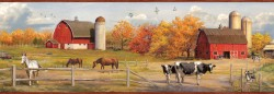 Jonny Red American Farmer Portrait Wallpaper Border