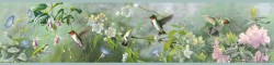 Ruby Green Hummingbird Garden Wallpaper Border (BBC48531B)