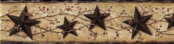 George Sand Tin Star Trail Wallpaper Border