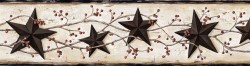 George Cream Tin Star Trail Wallpaper Border