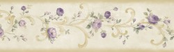 Betty Cream Tearose Acanthus Trail Wallpaper Border