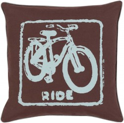 Mike Farrell Ride Brown, Blue Pillow | BKB020-1818P