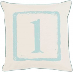 Mike Farrell The One Blue, Tan Pillow | BKB036-1818P