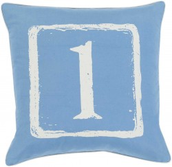 Mike Farrell The One Blue, Tan Pillow   BKB038-1818P