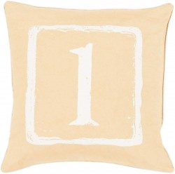 Mike Farrell The One Yellow, Tan Pillow   BKB039-1818P