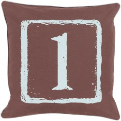Mike Farrell The One Brown, Blue Pillow   BKB041-1818P