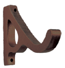 Oil Rubbed Bronze Double Grace Antique Drapery Rod Bracket