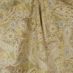 Breeze Green Tea Paisley Drapery Fabric