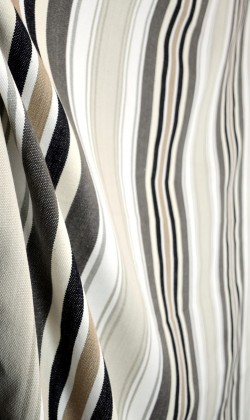 D3008 Bridgewater Charcoal Stripe Fabric