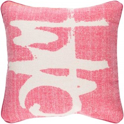 Bristle Pillow with Poly Fill in Hot Pink