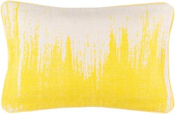 Bristle Pillow with Poly Fill in Light Gray and Lemon