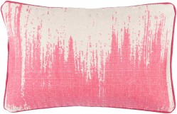 Bristle Pillow with Poly Fill in Light Gray and Hot Pink