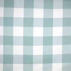 Buffalo Check Seabreeze Mint Green Blue Kaufman Cotton Fabric