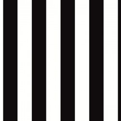 BW28702 1.25 inch Black & White Striped Wallpaper