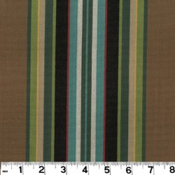 Carlton Stripe Walnut Fabric