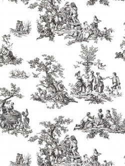 CH22508 Romantic Toile Wallpaper