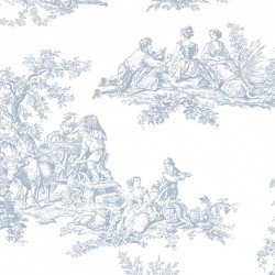 CH22510 Romantic Toile Wallpaper