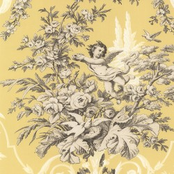 CH22539 Fabric Toile Wallpaper