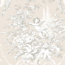 CH22540 Fabric Toile Wallpaper