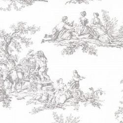 CH28245 Romantic Toile Wallpaper