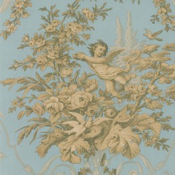 CH28309 Fabric Toile Wallpaper