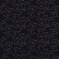 Chartres Scroll Black Kasmir Fabric