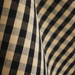 DC07 Chester Black Natural Check Fabric