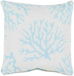 Coral Pillow in Teal | CO002-1616