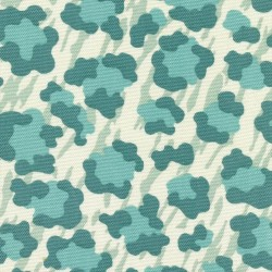 Cool Cat Palm Teal Kasmir Fabric
