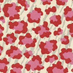 Cool Cat Tropic Red Kasmir Fabric