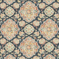 Cowan Court Blue Kasmir Fabric