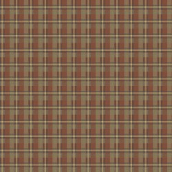 Gunner Brick Heritage Plaid Wallpaper
