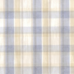 Laney Blue Sunday Plaid Wallpaper