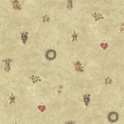 Apple Creek Beige Country Toss Wallpaper