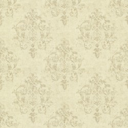 Arronsburg Wheat Damask Wallpaper