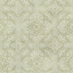 Christiana Sage Damask Medallion Wallpaper
