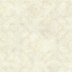 Christiana Sand Damask Medallion Wallpaper