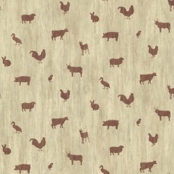 Farnhan Brick Animal Toss Wallpaper
