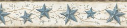 June Blue Heritage Tin Star Wallpaper Border