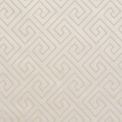 D178 Ivory Greek Key Fabric by Charlotte Fabrics