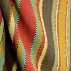 D2451 Apache Brick Stripe Southwest Fabric